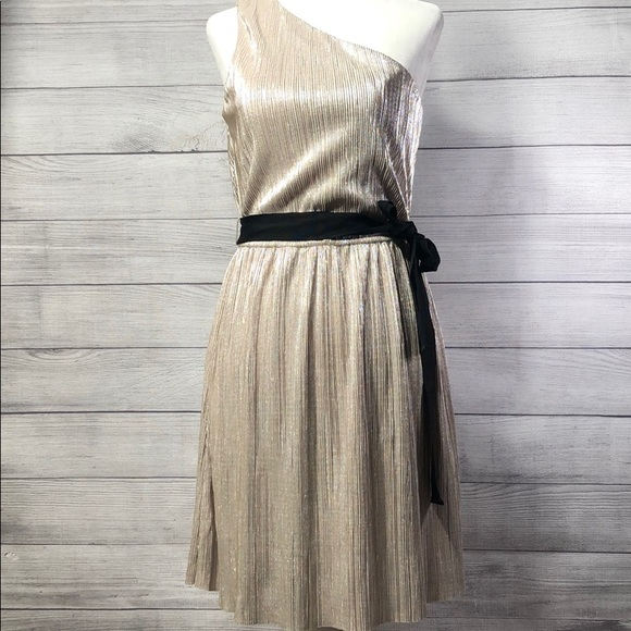 Express Dresses & Skirts - Express - Champagne Dress w/  Black Tie